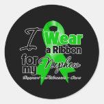 I Wear a Green Ribbon For My Nephew Stickers