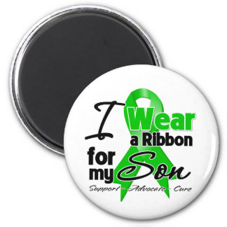 I Wear a Green Ribbon For My Son 2 Inch Round Magnet