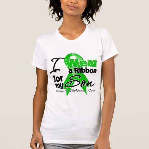 I Wear a Green Ribbon For My Son T Shirts