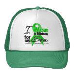 I Wear a Green Ribbon For My Son Trucker Hats