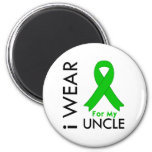 I Wear a Green Ribbon For My Uncle Fridge Magnet