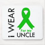 I Wear a Green Ribbon For My Uncle Mouse Pad
