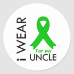 I Wear a Green Ribbon For My Uncle Stickers