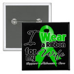I Wear a Green Ribbon For My Wife Pins