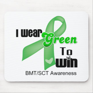 I Wear a Green Ribbon To Win BMT/SCT Mouse Pad