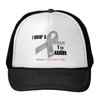 I Wear a Grey Ribbon To Win Mesh Hat
