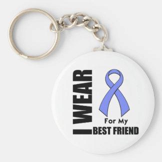 I Wear a Periwinkle Ribbon For My Best Friend Keychain