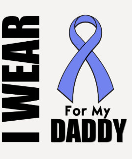 I Wear a Periwinkle Ribbon For My Daddy Tee Shirt