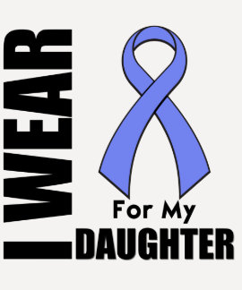 I Wear a Periwinkle Ribbon For My Daughter Shirt
