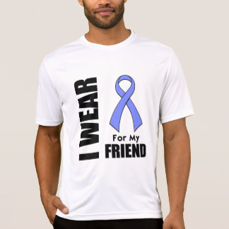 I Wear a Periwinkle Ribbon For My Friend Tee Shirts