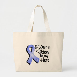 I Wear a Periwinkle Ribbon For My Hero Large Tote Bag