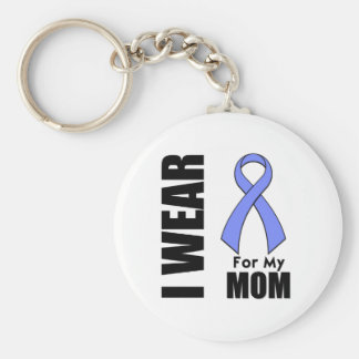 I Wear a Periwinkle Ribbon For My Mom Keychain
