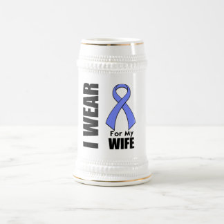 I Wear a Periwinkle Ribbon For My Wife Mugs