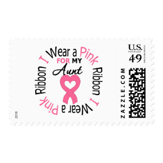 I Wear a Pink Ribbon For My Aunt Postage Stamp
