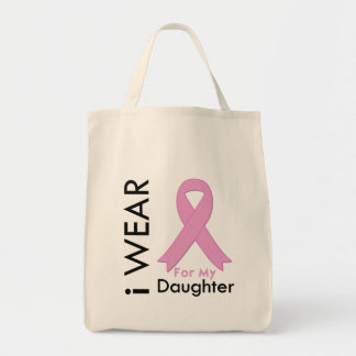 I Wear a Pink Ribbon For My Daughter Bag