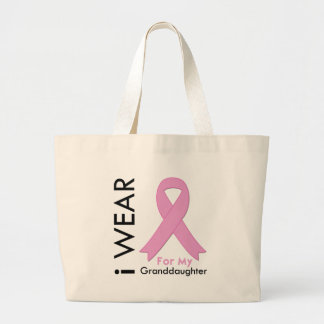 I Wear a Pink Ribbon For My Granddaughter Tote Bags
