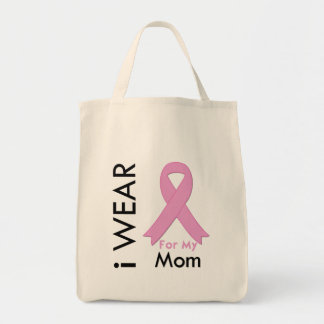 I Wear a Pink Ribbon For My Mom Bags