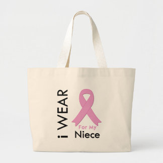 I Wear a Pink Ribbon For My Niece Bags