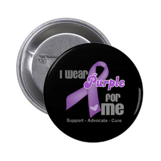 I Wear a Purple Ribbon For Me 2 Inch Round Button