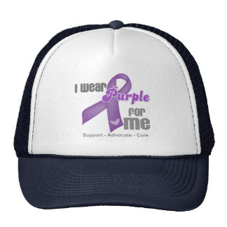 I Wear a Purple Ribbon For Me Trucker Hat