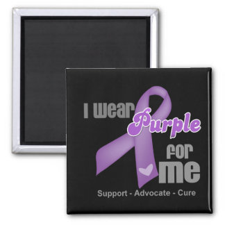 I Wear a Purple Ribbon For Me Magnet