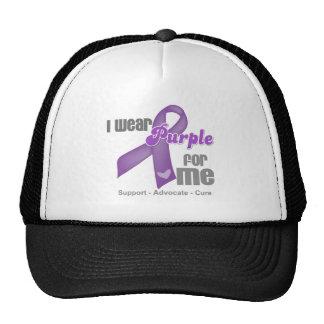 I Wear a Purple Ribbon For Me Trucker Hat