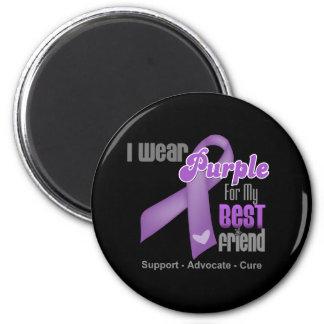 I Wear a Purple Ribbon For My Best Friend Fridge Magnets