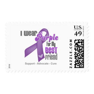 I Wear a Purple Ribbon For My Best Friend Postage Stamp