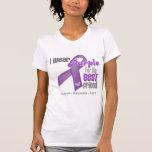 I Wear a Purple Ribbon For My Best Friend T Shirt