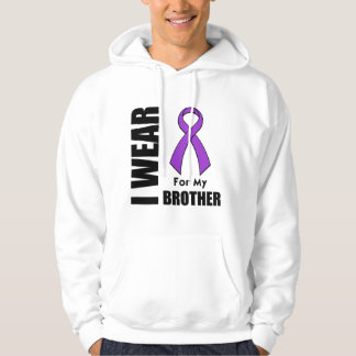 I Wear a Purple Ribbon For My Brother Hoodie