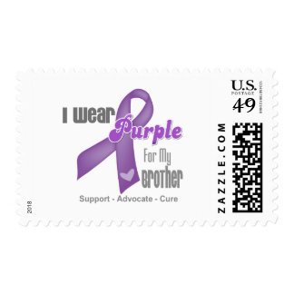 I Wear a Purple Ribbon For My Brother Postage