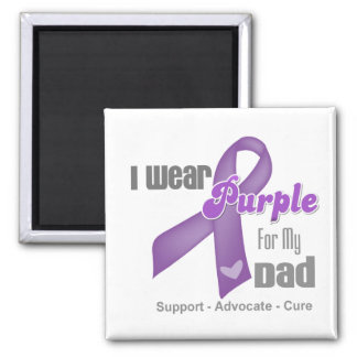 I Wear a Purple Ribbon For My Dad Fridge Magnets