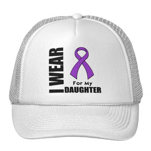 I Wear a Purple Ribbon For My Daughter Trucker Hat