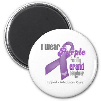 I Wear a Purple Ribbon For My Granddaughter Fridge Magnet