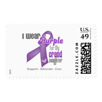 I Wear a Purple Ribbon For My Granddaughter Postage