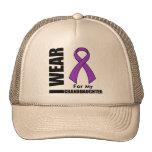 I Wear a Purple Ribbon For My Granddaughter Trucker Hat