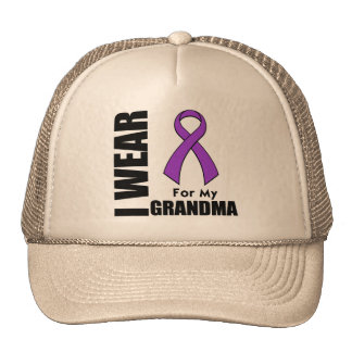 I Wear a Purple Ribbon For My Grandma Trucker Hat