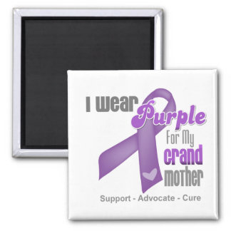 I Wear a Purple Ribbon For My Grandmother Magnets