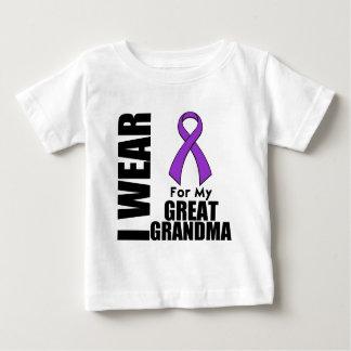 I Wear a Purple Ribbon For My Great-Grandma Tee Shirt