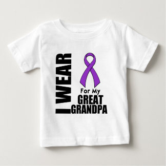 I Wear a Purple Ribbon For My Great-Grandpa Baby T-Shirt