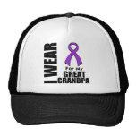 I Wear a Purple Ribbon For My Great-Grandpa Trucker Hat