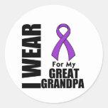 I Wear a Purple Ribbon For My Great-Grandpa Sticker