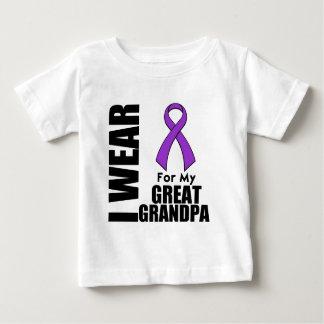 I Wear a Purple Ribbon For My Great-Grandpa Tee Shirt