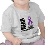 I Wear a Purple Ribbon For My Great-Grandpa T Shirts