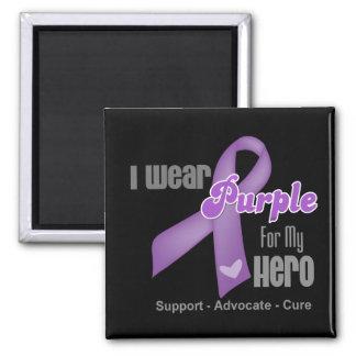I Wear a Purple Ribbon For My Hero Fridge Magnet