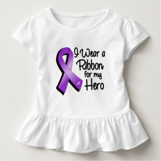 I Wear a Purple Ribbon For My Hero Toddler T-shirt