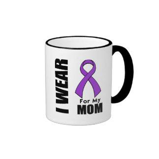 I Wear a Purple Ribbon For My Mom Mugs
