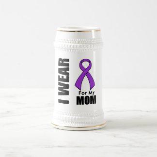 I Wear a Purple Ribbon For My Mom Coffee Mug