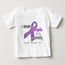 I Wear a Purple Ribbon For My Mommy Baby T-Shirt