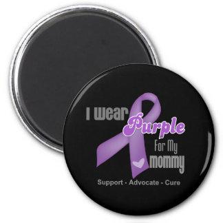 I Wear a Purple Ribbon For My Mommy Fridge Magnets
